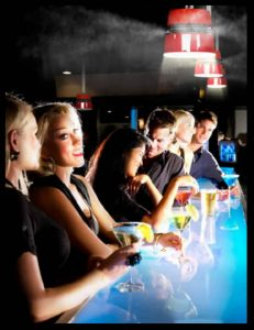 Cielo 360 ceiling mist fan for dubai bar